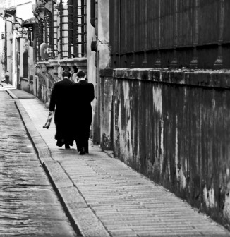 Florence,Priests,street photography